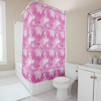Cortina Para Chuveiro teste padrão cor-de-rosa da aguarela