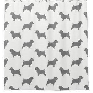 Cortina Para Chuveiro Teste padrão das silhuetas de Norfolk Terrier