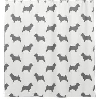 Cortina Para Chuveiro Teste padrão das silhuetas de Norwich Terrier