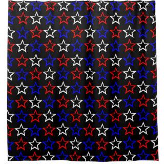 Cortina Para Chuveiro Teste padrão de estrelas patriótico