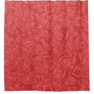 Cortina Para Chuveiro Teste padrão moderno do vermelho do abstrato do