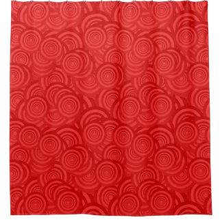 Cortina Para Chuveiro Teste padrão vermelho contemporâneo moderno