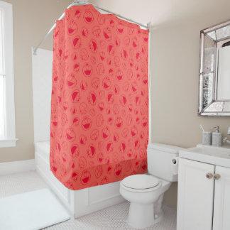 Cortina Para Chuveiro Teste padrão vermelho impressionante de Elmo |