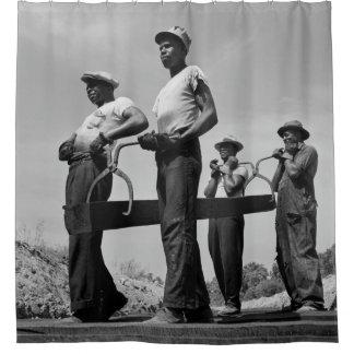 Cortina Para Chuveiro Trabalhadores da estrada de ferro - Biblioteca do