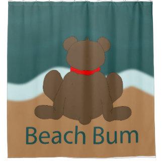 Cortina Para Chuveiro Urso do vagabundo da praia