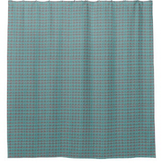 Cortina Para Chuveiro Vintage-Cabin-Blue-Red-Unisex_Shower-Curtain