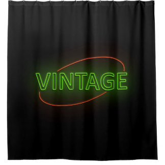 Cortina Para Chuveiro Vintage. de néon