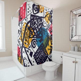 Cortina Para Chuveiro Wassily Kandinsky - arte abstracta pequena dos