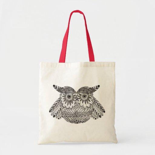 coruja as corujas bolsa de lona