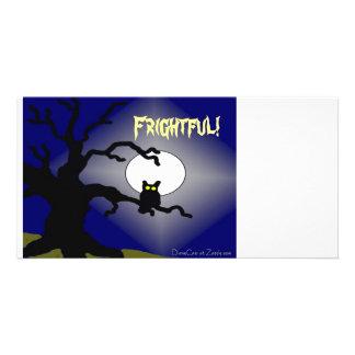 Coruja assustador na árvore o Dia das Bruxas Cartão Com Foto