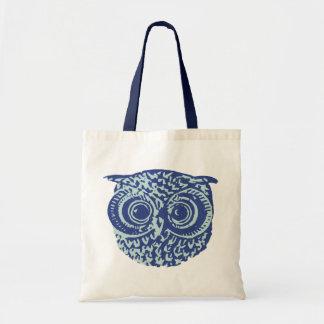 coruja azul bolsas para compras