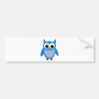 Coruja azul bonito dos desenhos animados adesivo para carro