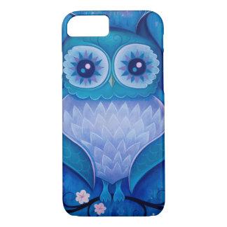coruja azul capa iPhone 7