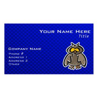 Coruja; Azul Cartão De Visita
