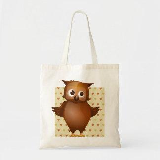 Coruja bonito bolsas para compras