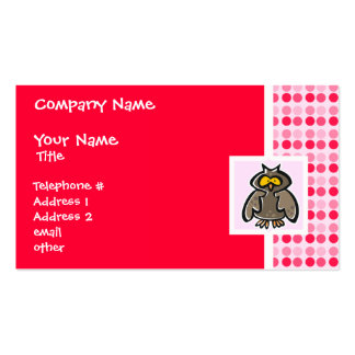 Coruja bonito cartão de visita
