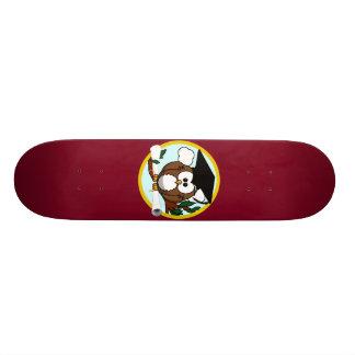 Coruja bonito da graduação dos desenhos animados shape de skate 19,7cm