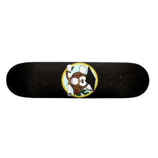 Coruja bonito da graduação dos desenhos animados shape de skate 20cm