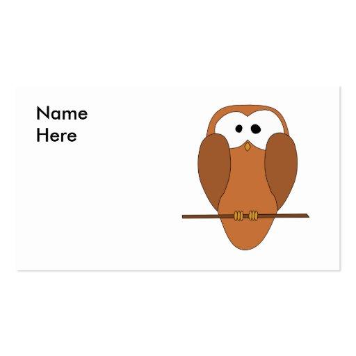 Coruja bonito de Brown Modelos Cartão De Visita