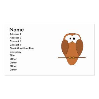 Coruja bonito de Brown Cartão De Visita