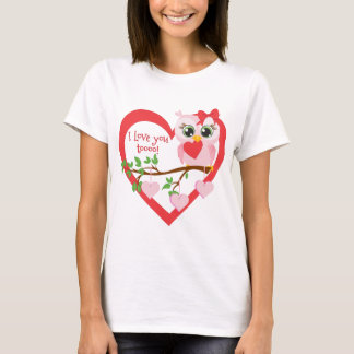 Coruja bonito do amor camiseta