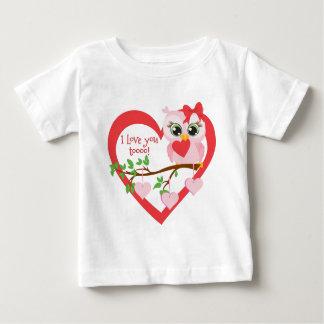 Coruja bonito do amor camiseta para bebê