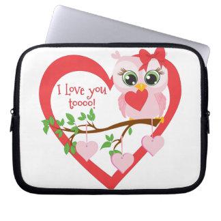 Coruja bonito do amor capa para notebook