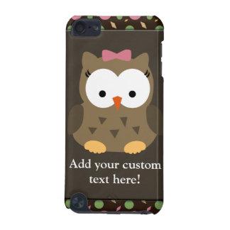 Coruja bonito do bebé com arco cor-de-rosa capa para iPod touch 5G