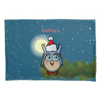 Coruja bonito do bebê com chapéu do Natal