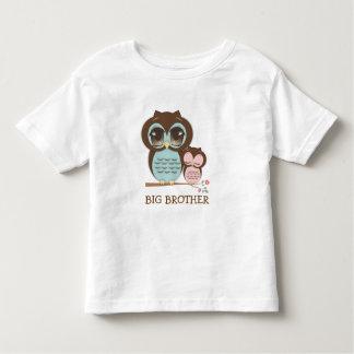 Coruja bonito do big brother com Sis sonolento do Camiseta Infantil