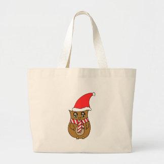 Coruja bonito do Natal Bolsas De Lona