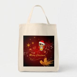 Coruja bonito Natal Bolsa