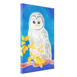 Coruja branca de Ural Impressão De Canvas Esticada
