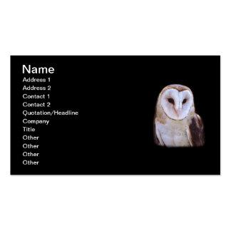 coruja cartão de visita