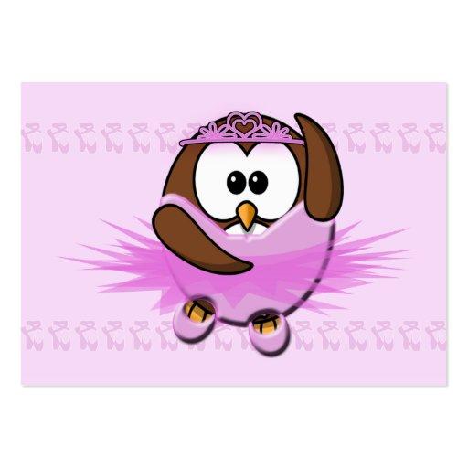 coruja da bailarina cartoes de visitas