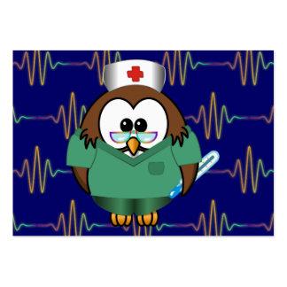 coruja da enfermeira cartão de visita