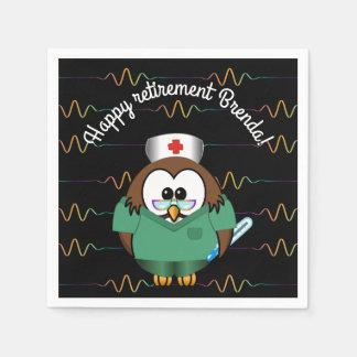 coruja da enfermeira - guardanapo de papel