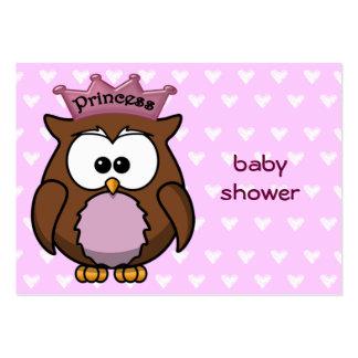 coruja da princesa modelos cartoes de visita