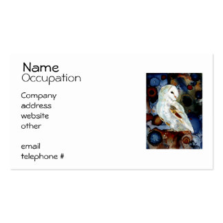 Coruja de noite cartão de visita