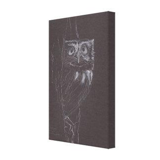 Coruja - desenho original - impressão das canvas impressão em tela