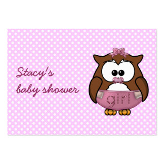 coruja do bebé modelo de cartões de visita