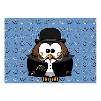 coruja do bigode modelos cartões de visita