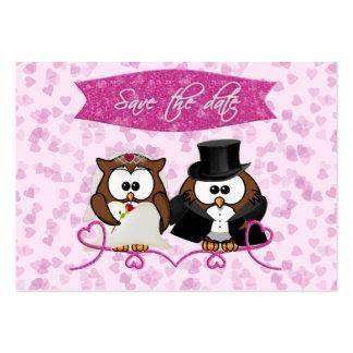 coruja do casal - economia--data cartão de visita grande