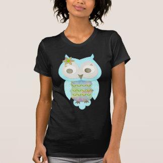 Coruja do cigano da flor camisetas