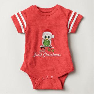Coruja do feriado - primeiro Natal dos bebês Body Para Bebê