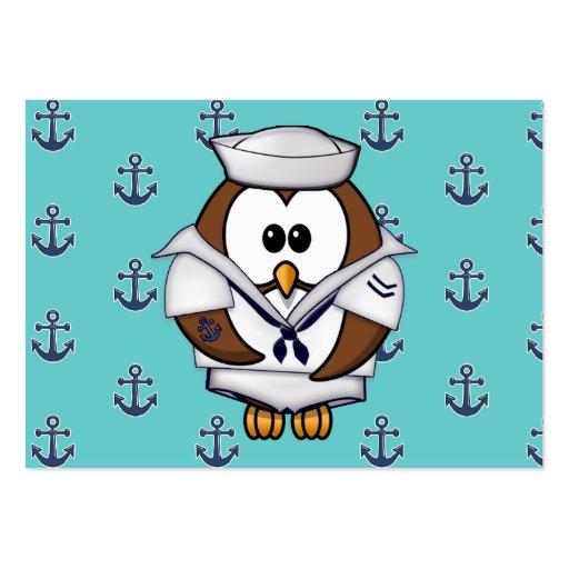coruja do marinheiro cartões de visitas