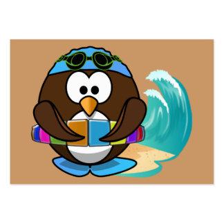 coruja do nadador cartões de visitas