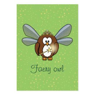 coruja do país das fadas modelos cartões de visita