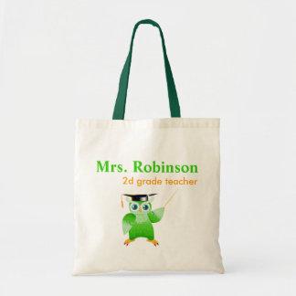 Coruja do professor - professor pequeno bolsa tote