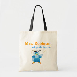 Coruja do professor - professor pequeno sacola tote budget